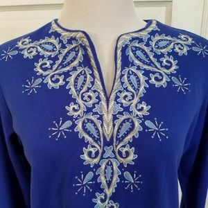 Gorgeous Bob Mackie Wearable Art Tunic Top Size S
